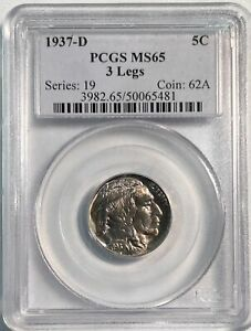 Click now to see the BUY IT NOW Price! 1937 D BUFFALO NICKEL 3 LEGS MS65 PCGS  PA50065481