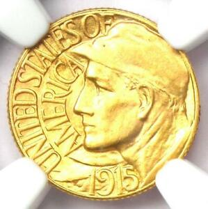 1915 S PANAMA PACIFIC GOLD DOLLAR G$1 COIN   CERTIFIED NGC MS64  BU UNC