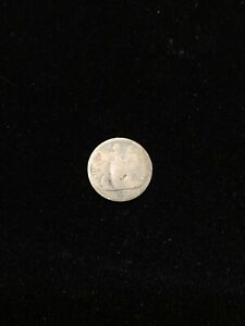 1872 UNITED STATES SEATED LIBERTY SILVER HALF DIME COIN