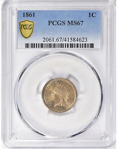 Click now to see the BUY IT NOW Price! 1861 INDIAN HEAD CENT IHC CN BU UNC UNCIRCULATED  FULL LIBERTY PCGS MS67