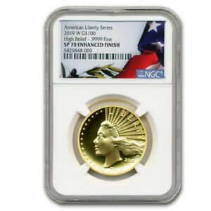 Click now to see the BUY IT NOW Price! 2019 W HIGH RELIEF LIBERTY GOLD SP 70 NGC   SKU209546