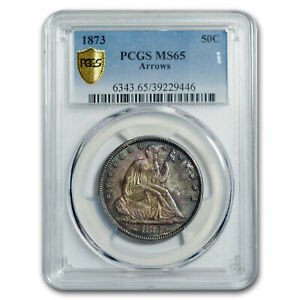 Click now to see the BUY IT NOW Price! 1873 LIBERTY SEATED HALF DOLLAR MS 65 PCGS  ARROWS    SKU162528