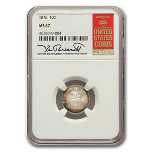 Click now to see the BUY IT NOW Price! 1876 LIBERTY SEATED DIME MS 67 NGC   SKU181166