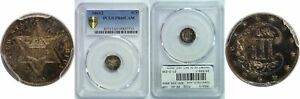 Click now to see the BUY IT NOW Price! 1863/2 SILVER THREE CENT PIECE PCGS PR 66 CAM