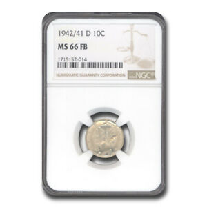 Click now to see the BUY IT NOW Price! 1942 D MERCURY DIME MS 66 NGC  FB  ZZ   SKU238673
