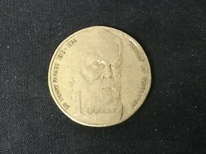 1996 AUSTRALIA SIR HENRY PARKES FATHER OF FEDERATION   $1 DOLLAR COIN CIRCULATED