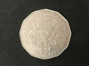 1982 AUSTRALIA COMMONWEALTH GAMES BRISBANE   50C FIFTY CENT COIN CIRCULATED
