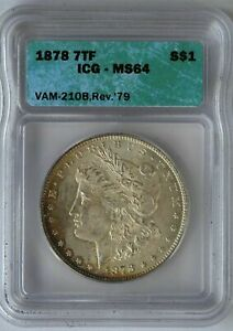 Click now to see the BUY IT NOW Price! MS 64 1878 REVERSE OF 1879 VAM 210B2 MORGAN SSDC TIED TOP POP 5/0 FINER RARITY 6