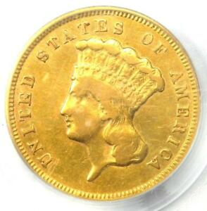1874 THREE DOLLAR INDIAN GOLD COIN $3   CERTIFIED PCGS GENUINE   XF DETAILS