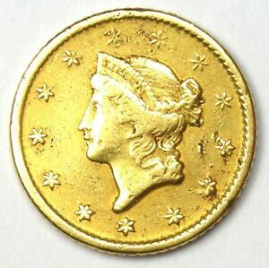 1849 O LIBERTY GOLD DOLLAR G$1   XF DETAILS  EF     NEW ORLEANS COIN