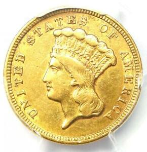 1854 THREE DOLLAR INDIAN GOLD COIN $3   CERTIFIED PCGS AU DETAILS    COIN