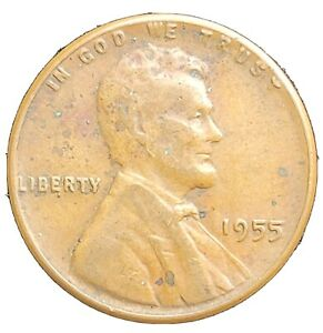 1955 LINCOLN WHEAT CENT  ERROR COIN DOUBLED DIE OBVERSE FS 01 1955 102