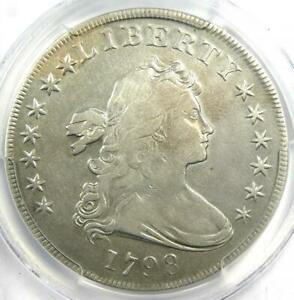 1798 DRAPED BUST SILVER DOLLAR $1 COIN   CERTIFIED PCGS VF DETAILS    COIN