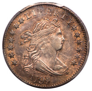 Click now to see the BUY IT NOW Price! 1798/7 10C 13 STARS REVERSE DRAPED BUST DIME PCGS AU58