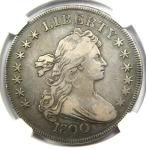 1800 DRAPED BUST SILVER DOLLAR $1 COIN   CERTIFIED NGC VF20   $2 675 VALUE