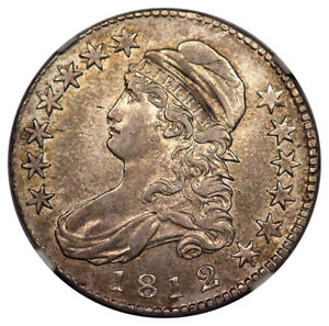 Click now to see the BUY IT NOW Price! 1812/1 LARGE 8 CAPPED BUST LETTERED EDGE O 101 50C NGC AU55