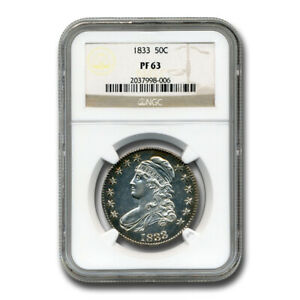 Click now to see the BUY IT NOW Price! 1833 CAPPED BUST HALF DOLLAR PF 63 NGC   SKU241330