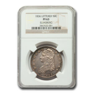 Click now to see the BUY IT NOW Price! 1836 CAPPED BUST HALF DOLLAR PF 63 NGC  LETTERED EDGE    SKU241331