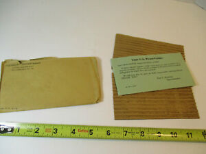 1957 US SILVER PROOF SET COIN MINT OGP FLAT PACK ENVELOPE ONLY NO COINS VGC