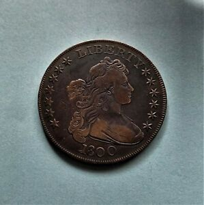 1800 DRAPED BUST SILVER DOLLAR BOUGHT AT AUCTION HOUSE AS LIGHTLY CIRCULATED