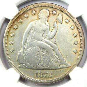 1872 S SEATED LIBERTY SILVER DOLLAR $1 COIN   NGC VF DETAILS    S MINT