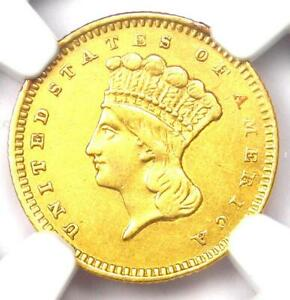 1859 S INDIAN GOLD DOLLAR  G$1 COIN    CERTIFIED NGC AU DETAILS    S MINT