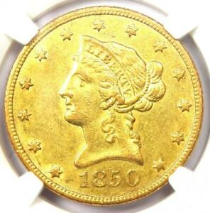 1850 O LIBERTY GOLD EAGLE $10 COIN   CERTIFIED NGC AU55   $7 250 VALUE