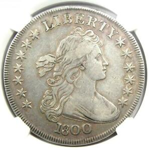 1800 DRAPED BUST SILVER DOLLAR $1 COIN   CERTIFIED NGC VF25    DATE