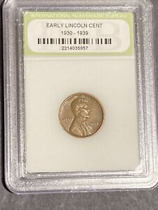 EARLY LINCOLN CENT   1930 1939  SLABBED