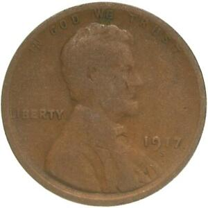 1917 S LINCOLN WHEAT CENT ABOUT GOOD PENNY AG