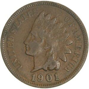1901 INDIAN HEAD CENT GOOD PENNY VG