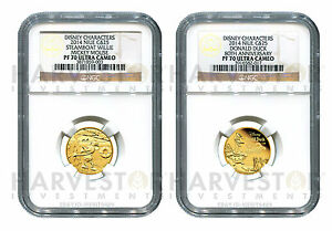 Click now to see the BUY IT NOW Price! DISNEY   STEAMBOAT WILLIE AND DONALD DUCK   NGC PF70 U CAM   1/4 OZ. PROOF GOLD