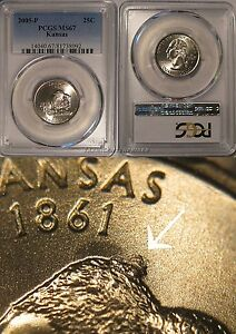 Click now to see the BUY IT NOW Price! 2005 P KANSAS STATE QUARTER 25C HUMPBACK BISON PCGS MS67 BUSINESS STRIKE