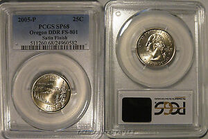 Click now to see the BUY IT NOW Price! 2005 P OREGON STATE QUARTER 25C DDR FS 801 PCGS SP68 SATIN DOUBLE DIE VARIETY