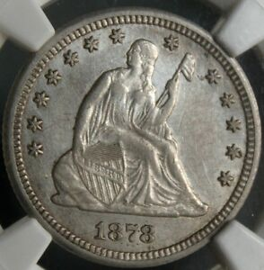 Click now to see the BUY IT NOW Price!    1878 CC SEATED LIBERTY QUARTER NGC DETAILS AU 55?  AU 58? NICE LOOKING