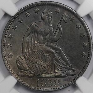 Click now to see the BUY IT NOW Price! 1858 O 50C LIBERTY SEATED HALF DOLLAR NGC MS 62