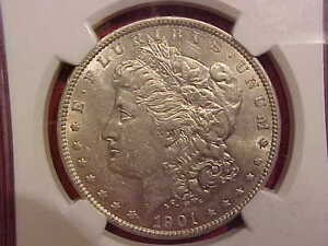 Click now to see the BUY IT NOW Price! 1901 MORGAN DOLLAR   TOP 100   VAM 3 DDR FEATHERS   NGC AU 53    G1523