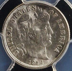Click now to see the BUY IT NOW Price! 1914 D 10C BARBER DIME PCGS MS 65