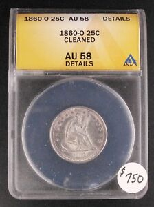 Click now to see the BUY IT NOW Price! 1860 O 25C ANACS AU58