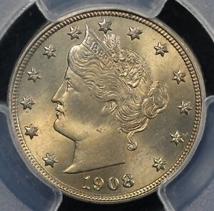 Click now to see the BUY IT NOW Price! 1908 5C LIBERTY NICKEL PGCS MS 65  CAC