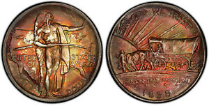 Click now to see the BUY IT NOW Price! 1938 OREGON COMMEMORATIVE HALF DOLLAR   SPECTACULAR COLOR   50C   PCGS MS67