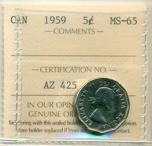 Click now to see the BUY IT NOW Price! 1959 5CT ICCS MS 65