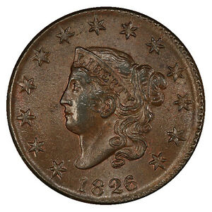 Click now to see the BUY IT NOW Price! 1826/5 1C N 8 PCGS MS63  BN