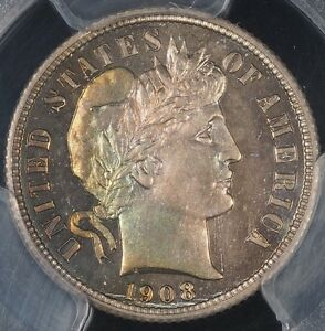 Click now to see the BUY IT NOW Price! 1908 BARBER DIME PCGS PR66 CAC