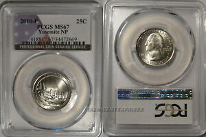 Click now to see the BUY IT NOW Price! 2010 P YOSEMITE NP QUARTER 25C PCGS MS67 BUSINESS STRIKE USA FLAG