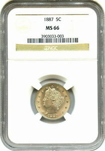 Click now to see the BUY IT NOW Price! 1887 NGC MS66 LIBERTY NICKEL SUPER LUSTROUS ORIGINAL COIN TOP OF THE GRADE PQ