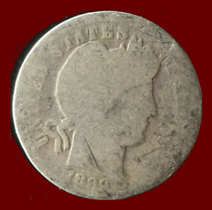 1899 P BARBER 90  SILVER DIME SHIPS FREE. BUY 5 FOR $2 OFF