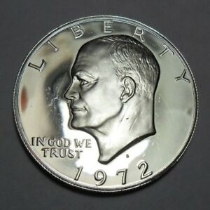 1972 S EISENHOWER  PROOF  DOLLAR COIN    40  SILVER