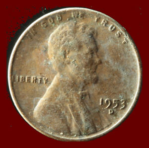 1953 D WHEAT CENT SHIPS FREE. BUY 5 FOR $2 OFF