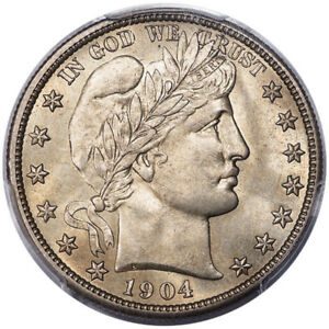 Click now to see the BUY IT NOW Price! 1904 S 50C BARBER HALF DOLLAR PCGS MS65